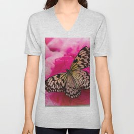 #Butterfly #Life with #pink #colors Unisex V-Neck