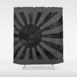 Black Japan Empire Flag Shower Curtain