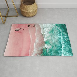 Beach in Portugal, Algarve, Lagos, Beach Print, Pink Beach Print, Bondi Beach, Pink Print, Ocean Rug