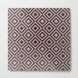 Pink and blue geometric Metal Print