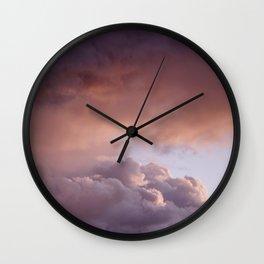 Clouded romance Wall Clock