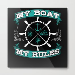 Boat Captain On The Sea Gift Idea Metal Print