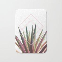 Tropical Desire - Foliage and geometry Bath Mat