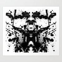 Rorschach's Inkblot #1 Art Print