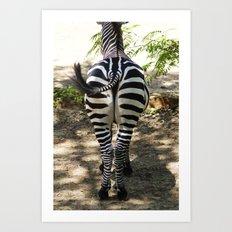 Do These Stripes Make My Butt Look Big? Art Print