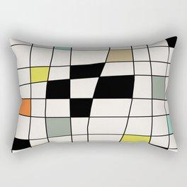 Mid Century Modern Warped Tiles Rectangular Pillow