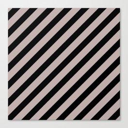 Modern Black & White Minimalist Diagonal Line Pattern Canvas Print