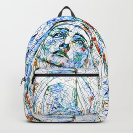 Glass stain mosaic 8 - Madonna, by Brian Vegas Backpack