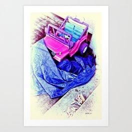 Jeep & Tarp & Chalks Art Print