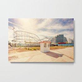 Abandoned Roller Coaster Daytona Florida Metal Print