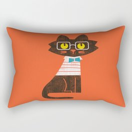 Fitz - Preppy cat Rectangular Pillow