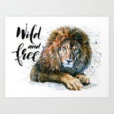 Lion 3 Wild and Free Art Print