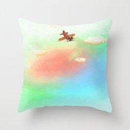 Whimsy Avionics Throw Pillow
