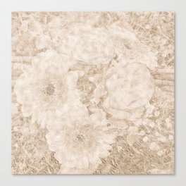 old festive colored flower pattern Canvas Print