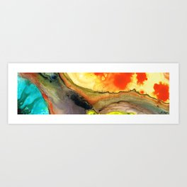 Bridging The Gap - Abstract Art Painting By Sharon Cummings Art Print