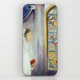 "Odilon Redon ""Portrait of Simone Fayet in Holy Communion"" iPhone Skin"