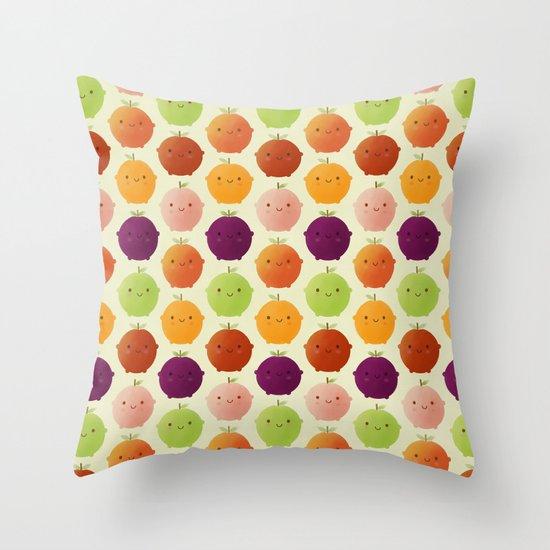 Cutie Fruity (Watercolour) Throw Pillow