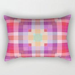 Bright Pink Geometric Rectangular Pillow