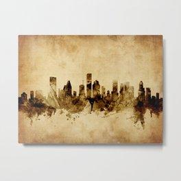 Houston Texas Skyline Metal Print