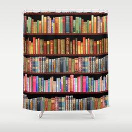 Vintage books ft Jane Austen & more Shower Curtain