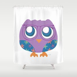 nerdy birdie Shower Curtain