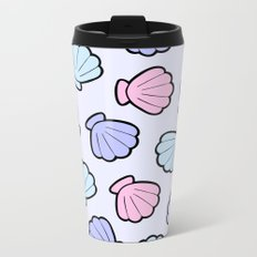 Mermaid Shells Pastel Pattern Metal Travel Mug