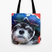 coco Tote Bags featuring Coco by MyFavoriteCouture.com