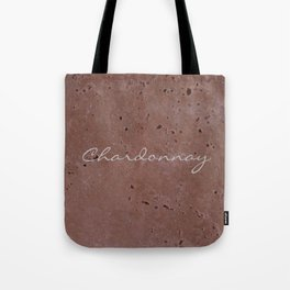 Chardonnay Wine Red Travertine - Rustic - Rustic Glam Tote Bag