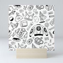 Seinfeld Pattern (White Background) Mini Art Print
