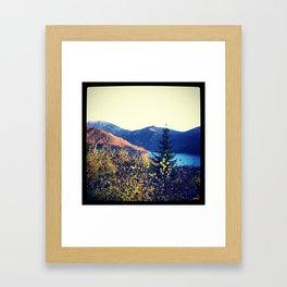 Snow in the Rockies Framed Art Print
