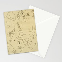 Jérôme Lalande's Astronomie (1771) - Geometric Calculations 7 Stationery Cards
