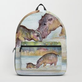 Hippopotamus Backpack