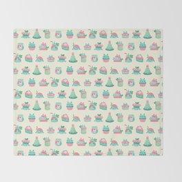 Choco Mint Rabbit Throw Blanket