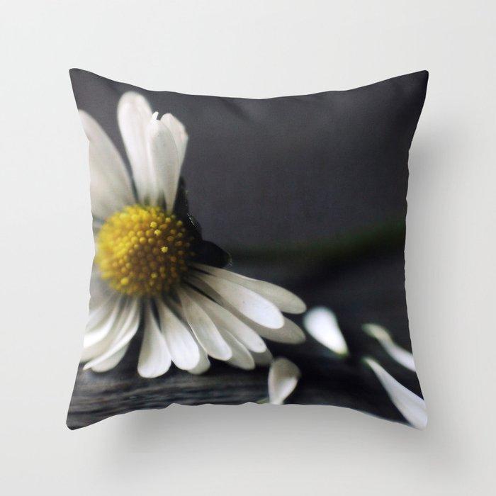 He Love Me, He Loves Me Not Throw Pillow