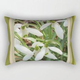 Spring Snowdrops Rectangular Pillow