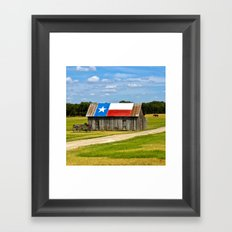 Texas Barn Framed Art Print