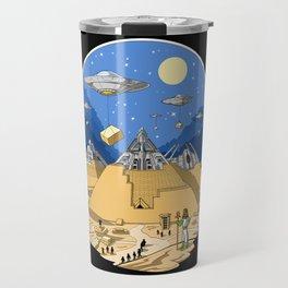 Alien Egyptian Pyramids Travel Mug