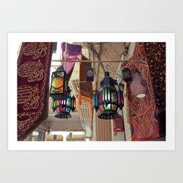 Arabian Lanterns  Art Print