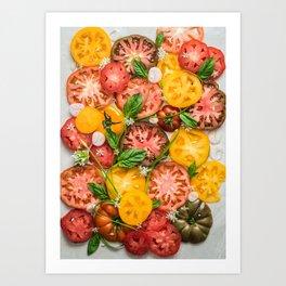 Heirloom Tomatoes Art Print