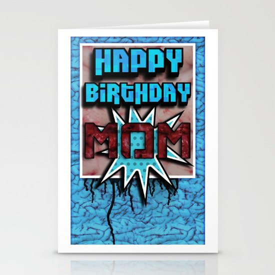 Happy Birthday Mom Stationery Cards
