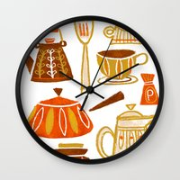 mid century modern Wall Clocks featuring Mid Century Modern Kitchen by Van Huynh