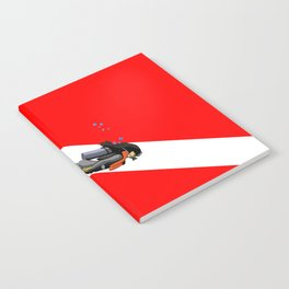 Diver And Dive Flag Notebook