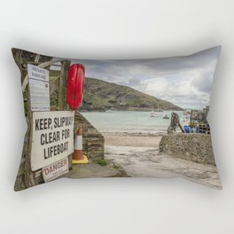 Port Isaac Harbour Rectangular Pillow