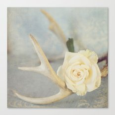 Girly Antlers Canvas Print