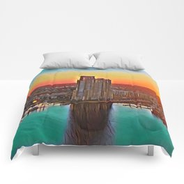 Federal Hill Sunset Comforters
