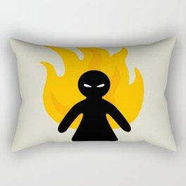 Beware of The Angry Girl Rectangular Pillow