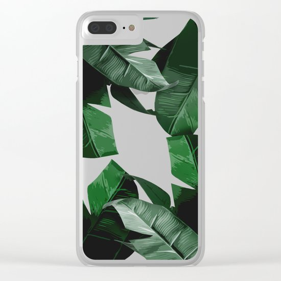Banana Palm Leaves Clear iPhone Case