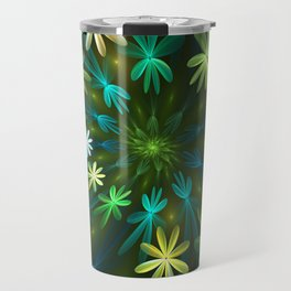 Fantasy Flowers, Fractal Art Travel Mug