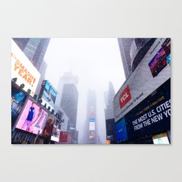 Snowy Times Square, NYC 2 Canvas Print