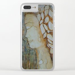 Lady autumn Clear iPhone Case